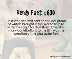 Joss Whedon created Rex. He is now 100 times more awesome.