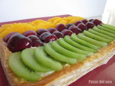 Tarta de frutas sin azúcar