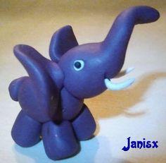 Fimo Elefant stehend Das Janisx Eckchen