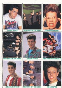NKOTB wallet pictures. I actually have this attached in one of the magazines back then