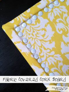 Craftivity Designs: Fabric Covered Cork Board One of these DIY fabric covered cork boards would look amazing with some D&D pushpins! Cork Crafts, Fun Crafts, Arts And Crafts, Fabric Crafts, Diy Projects To Try, Craft Projects, Craft Ideas, Welding Projects, Fun Ideas