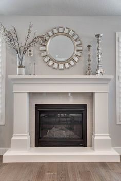 Most recent Photos gas Fireplace Mantels Concepts Beckham Stone Fireplace Mantel Stone Fireplace Mantel, Fireplace Surrounds, Fireplace Design, Fireplace Ideas, Mantel Ideas, Above Fireplace Decor, Stone Fireplaces, White Fireplace Surround, Fireplace Makeovers