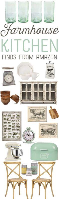 Farmhouse Kitchen Finds From Amazon Vintage Kitchen Decor-www.themountainviewcottage.net.jpg