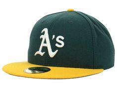 Oakland Athletics New Era MLB Authentic Collection 59FIFTY Cap Hats New Era  Cap a75f55265772