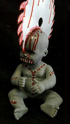 Zombie Baby Doll Saw Blade in the Head Horror Doll Halloween Haunted House Prop Haunted House Props, Halloween Haunted Houses, Halloween Projects, Halloween Ideas, Creepy, Scary, Doll Stuff, Voodoo, Make And Sell