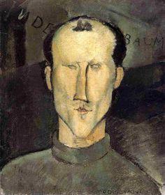 Leon Indenbaum, 1915, Amedeo Modigliani Size: 54.6x45.7 cm Medium: oil on canvas