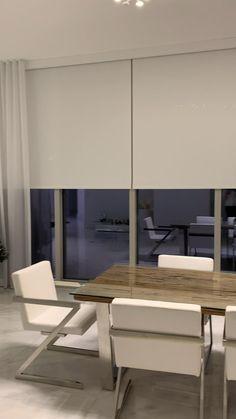 Home Room Design, Home Design Plans, Home Interior Design, Living Room Designs, Blinds For Bifold Doors, Blinds And Curtains Living Room, Curtain Styles, Living Room Modern, Modern House Design