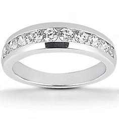 0.65 ct.GENUINE diamonds wedding band White gold new on Etsy, $1,450.00
