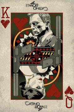 """Casino Royale"" by Darren Tibbles. More fan art of Bond. Thème James Bond, James Bond Movies, James Bond Movie Posters, Casino Theme, Casino Games, Skyfall, Vintage Cartoon, Retro Vintage, James Bond Casino Royale"