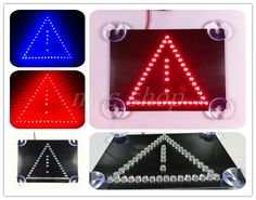 NEW High quality Third generation brake light warning triangle additional aircraft trigonometric safety warning signs(China (Mainland))