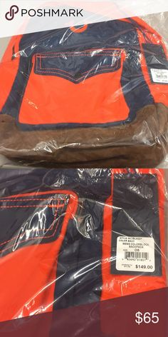 d527c2c5956 True Religion Book Bag Orange   Blue Bag True Religion Bags Backpacks