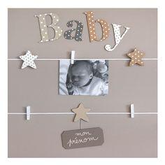 """Cadre Photo Enfant Pêle-mêle 5 vues personnalisable Mixte """"Baby"""" Pêle-mêle 5 vues personnalisable Mixte """"Baby"""""""