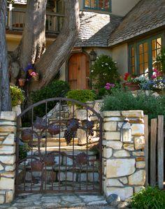entry gate to a Carmel, California home