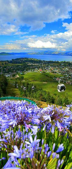 Located high on Mount Ngongotaha Skyline Rotorua offers stunning views overlooking the city and Lake Rotorua, NEW ZEALAND