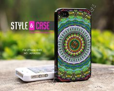 iPhone 4 case iPhone 4S case Mandala iPhone case by StyleAndCase, $9.99