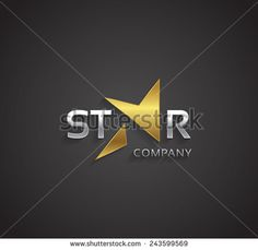 Vector graphic golden and silver elegant star symbol for your company - stock vector