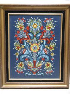16x20 framed Norwegian Rosemaling painting by Rosemaling on Etsy, $150.00