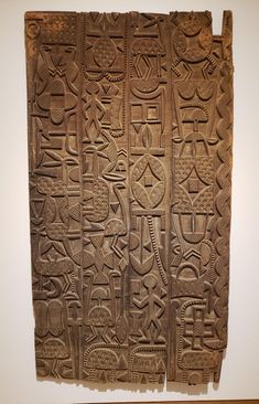Nupe door, carved by Sakiwa or his son, showing Yoruba and Islamic influencea. Viking Decor, Statues, Architectural Sculpture, Vernacular Architecture, Medieval Art, Ancient Artifacts, Ancient Civilizations, Gods And Goddesses, Wood Sculpture