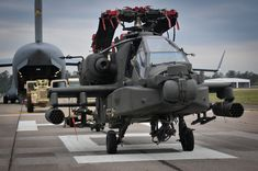 Apache Folded on Runway