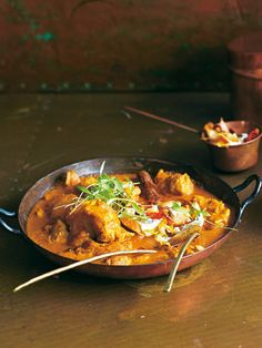 try this bright lively chicken and almond milk curry with sizzling fragrant spices.