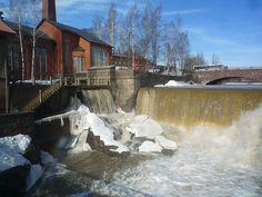 Vantaanjoki waterfall in Vanhakaupunki, Helsinki, Finland
