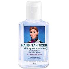 HANS sanitizer - Frozen meme pun