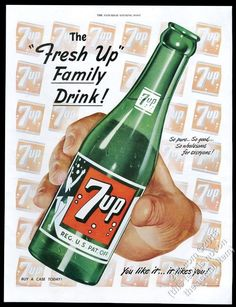 1949 7Up 7-Up soda large green bottle and logos art vintage print ad   Collectibles, Advertising, Soda   eBay!