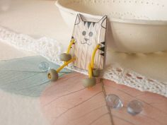 Funny cats brooches by creativemoss on Etsy