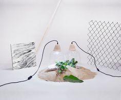 Milo Baby Wood Pendant Lamp White cable// by AgaJanukanisShop