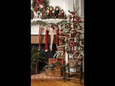 Prim Christmas Primitive Decorating & Craft Ideas Tour-How to decorate f...