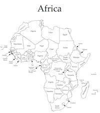 africa map skills worksheet
