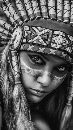 beelmoon - 0 results for tattoos Native American Drawing, Native American Tattoos, Native Tattoos, Native American Artwork, American Indian Girl, Native American Girls, Native American Beauty, Indian Girl Tattoos, Catrina Tattoo
