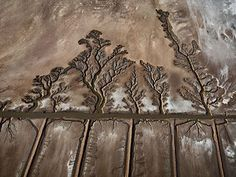 Colorado River Delta #10, Abandoned Shrimp Farms, Sonora, Mexico, 2012, Edward Burtynsky's aerial photograph