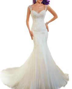 Weddinglee Bride Dress Wedding Ivory Wedding Dress 2017 Summer Lace Wedding Dress for Bride Mermaid Sleeveless Backless. High quality fabic, Built in Bra and Fully-lined. Delivery Time: Total delivery time is Tailoring time(ususlly 7-10 business days) Plus Shipping time(usually 3-5 business days).But Total Delivery Time can be shortened to 10-15 days if you are in urgent need of the dresses. Size: For accurate measurements of Bust,Waist,Hips, Hollow to Floor, Please refer to the Standard...
