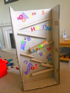 Cardboard marble run -  Technology - because sometimes I DO babysit...