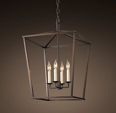 RH's 19Th C. English Openwork Lantern-Chandelier over stairs OR two over kitchen island