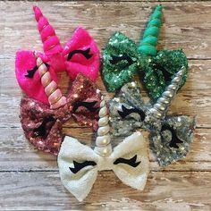 Unicorn Horn Hair bow!  Sequin Unicorn Bow!