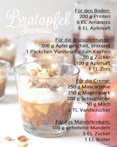 Rezept Bratapfel Tiramisu | recipe | christmas dessert | apple dessert | christmas | Weihnachtsdessert | Winterdessert | Schichtdessert | how to Tutorial