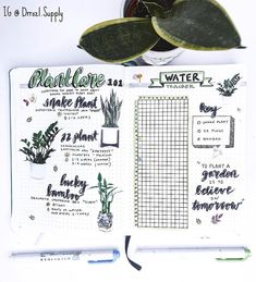 Introducing a unique and functional spread. the I recently adopted plants and so I wanted to create a section to help me remember to care for them💕 . Bullet Journal Tracking, Goal Journal, Bullet Journal Banner, Bullet Journal Spread, Bullet Journal Layout, Bullet Journal Inspiration, Journal Ideas, Bullet Journals, Bujo