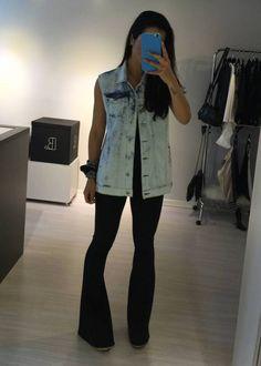 Colete Jeans Bordado