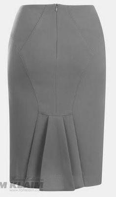Grey skirt with unique pleats at the back