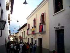 La Ronda, Quito is lined with colonial homes