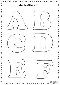 Risultati immagini per as letras do alfabeto para imprimir Alphabet Letter Templates, Printable Letters, Alphabet And Numbers, Alphabet Stencils, Alphabet Letters, Felt Crafts, Diy Crafts, Felt Name, Felt Letters