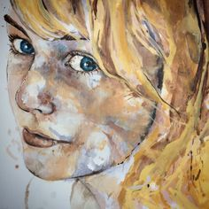 'Abigail' by Johanna Wilbraham. Oil on canvas, 100 x 100 cm.
