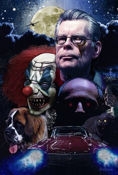 Which is your favorite Stephen King movie? Stephen King Poster by Saint Genesis Arte Horror, Horror Art, Scary Movies, Horror Movies, Horror Fiction, Stephen King Novels, Kings Movie, Steven King, Pet Sematary