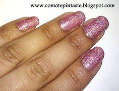 ¿Cómo te pintaste?: Mi colección de holográficos de Milani #milani #swatches #rosa #holografico #pink #holographic #nails #uñas #comotepintaste #esmaltes #polish
