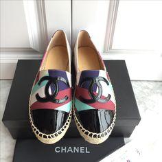 Chanel woman shoes espadrilles flats