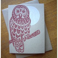 Lino Print card by The Home Press