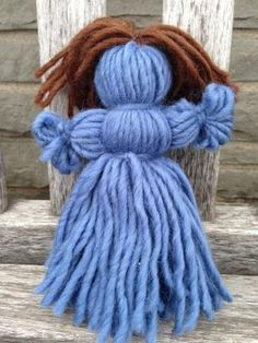 crafts wiith wood pots and yarn - Google Search