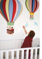 Wall stickers hot air balloons!